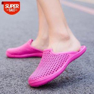 High Quality Women Sandal Men Rubber Clogs Female EVA Sandles Unisex Hole Shoes Pink Blue Black White Color Homen Da Areia 35-45 #Ge0v