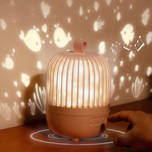 Star Music Projector Night Light LED Rechargeable Room Decor Rotate Starry Sky Porjectors Luminaria Decoration Bedroom Lamp Gift