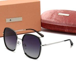Marka Üst Tasarımcı AAA Polarize Güneş Gözlüğü Dames Modu Kare Güneş Kadın Açık Sürüş Boss Cam Gözler 2021