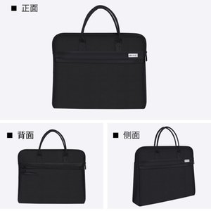 Business Portable Document Bag Briefcase Printing Double Zipper Office Meeting Material