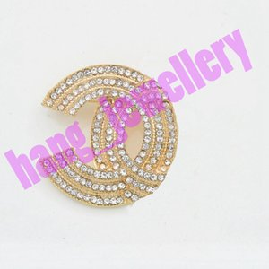 CHANNEL Charm Pin Open as C Letter Brooches Crystal Pins Women Clothing Suits Accessories Jewelry Fashion Paris Brooch