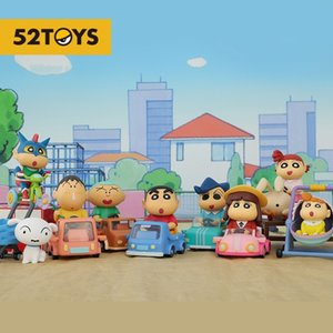 52toys crayon small new car series blind box animation fashion play hand made lovely gift ornaments