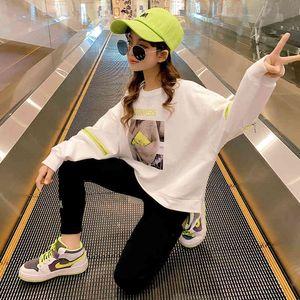 Girls' bodywear wear 2021 spring and autumn new Korean style top loose children's long sleeve base coat