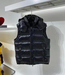 Зимний мужской жилет Parkas с буквами зимний дизайнерский жилет для мужчин женщин пара классический значок куртки повседневные жилеты 2 стилей