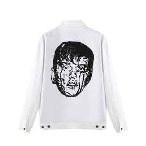Mens Designer Jackets Golf Wang Punk Face Trucker Jacket Double-sided Crying Fashion High Street Casual Outwear