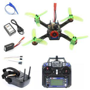 Mini 120mm F3 OSD 2S RC FPV Racing Drone Quadcopter 700TVL Camera VTX Goggle 10A ESC 7500KV Brushless 2.4G 6ch BNF RTF Set Drones