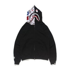Homme Sweat à capuche Couleur Style Couleur Contraste Shark Head Street Casual Coat R2XN