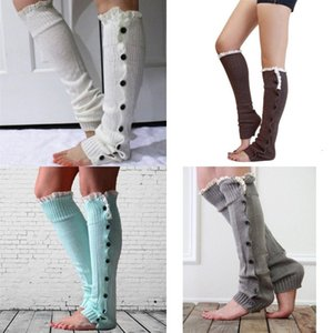 Autumn Winter Women Socks Cover Knitting Fashion Lace Button Leg Warmers Christmas Stance Long Cloth Boot Cover 9 8hh G2