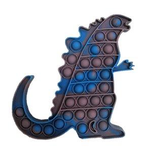 Bubble Fidget Toy Decompression Toys Tie Dye Alien Silicone Anti-Stree Reliever Board Games 15cm*15cm