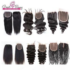 Malaysian Peruvian Hair Closure Deep Curly Loose Wave Raw Virgin Indian Straight Brazilian Body Wave Cambodian Human Hair Lace Closure Mixed