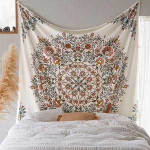 Hippie Wall Tapestry Mandala Bohemian Home Decor Floral Wall Hanging Tapestry Cloth Fabric Mandala Boho Wall Carpet