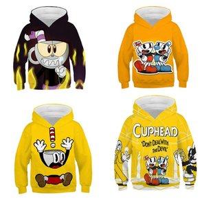Hoodies & Sweatshirts Kids Cup Head Markman Teen Hoodie Casual Hip-Hop Street Style Long Sleeve Sweatshirt 4-14 Boy Girls Fall Top