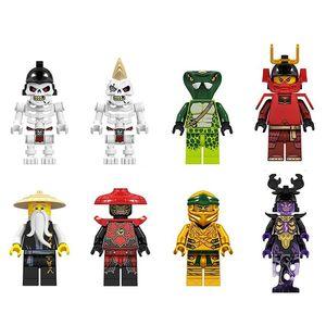 8PCS   LOT Cartoon Mini Figures Minifig Brick Building Blocks Kids Educational Toy Gift