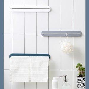 Stainless Steel Fixed Bath Towel Holder Bathroom Bar Wall Mounted Hanger Single Hook Dual Racks
