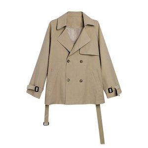 Women's Trench Coats Autumn Coat Windbreaker 2021 Short Korea Style Jacket Ladies Spring Outwear Casaco Feminino SQQ647