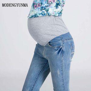 Maternity Bottoms M-3XL Elastic Waist Jeans Pants For Pregnancy Clothes Pregnant Women Legging Spring 2021
