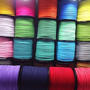 3mm 5 Yards Macrame Braided Faux Suede Cord Leather Lace DIY Handmade Beading Bracelet Jewelry Making Flat Thread String Rope 1976 Q2