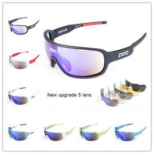 Top Qualité Nouveau POC 5 Lentilles Vélo Vélo Vélo Sport Sunglasses Hommes Femmes Vélo Vélo Cycle Eyewear Lentes de Sol Para Lunettes de plein air