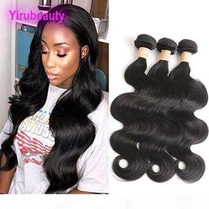 Capelli umani brasiliani Lunghi pollici 3 Bundles Wave Body Wave Double Hair Wefts 30-40 pollici Virgin Hair Body Wave