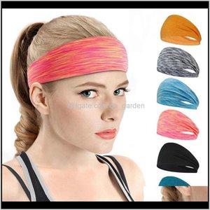Jewelry Drop Delivery 2021 For Men Sweatband Women Headbands Sport Cycling Basketball Workout Lightweight Yoga Hair Accessories 17 Styles 6Ix