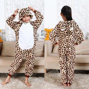 Kids Unicorn Pajamas onesie Boys Kugurumi panda Winter Flannel Pajama Kigurumi Girls Nightie Stitch unicornio Sleepwear Overalls