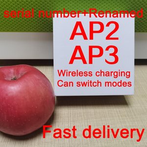 Air Gen 3 AP3 H1 رقاقة سماعات الشفافية المعدنية المفصلي اللاسلكي شحن سماعات بلوتوث PK القرون 2 AP برو AP2 W1 سماعات الأذن 2nd Genera