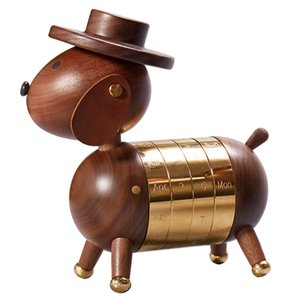 fashion wooden high quality crafts creative gifts home European-style decorations woodens craft gentleman dog calendar Custom 2021