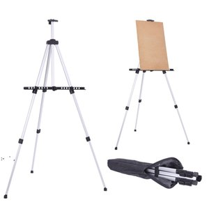 Easel Stand Painting Artist Display Tripod for Event Cofffee Shop Table-Top, Aluminium Adjustable Height with an Carrying Bag by sea OWE9555