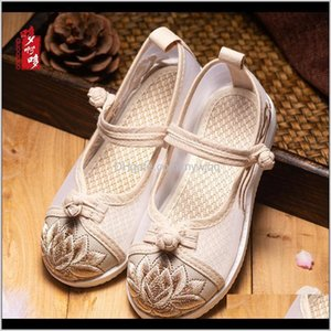 First Walkers Baby, Kids & Maternity Drop Delivery 2021 Girls Sandals Embroidered Hanfu Childrens Shoes Summer Costume Ethnic Net Cloth Perfo