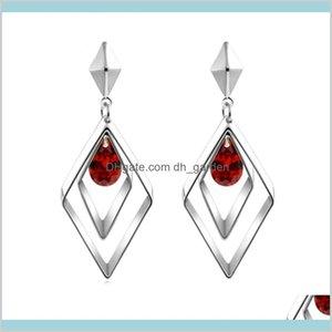 Diamond Rhombus Red Black Crystal Statement Fashion Jewelry For Women Will And Sandy Gift Nlmfh Chandelier Tyzom