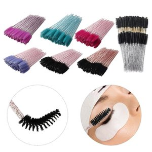 50Pcs Set Disposable Eye Wands Eyelash Brushes Applicator Makeup Brush Lash For Extensions Spoolie False Eyelashes