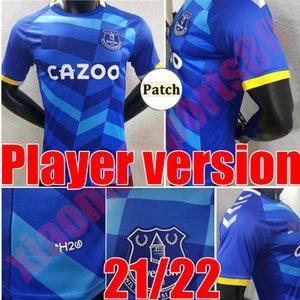 Игрок версии 2021 2022 Everton футбол для футбола Calvert-Lewin 21 22 Richarlison Sigurdsson James Allan футбольная футболка Pickford черный зеленый вратарь Y.mina