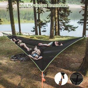 Tents And Shelters Multi Person Hammock 3 POINT DESIGN Portable Multi-functional Triangle Aerial Mat Convenient Camping Sleep
