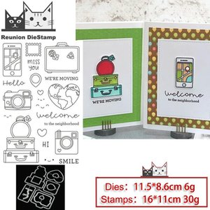 Painting Supplies Reunion Travel Camera Metal Cutting Dies And Stamps Stencil For DIY Scrapbooking Po Embossing Decorative Paper Card