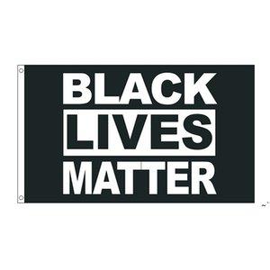 50 шт. Прямой завод Оптовая 90 * 150 см 3x5 FTS Черная жизнь Motal Flag BLM Мир протест открытый баннер OWE5586