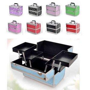 Aluminium Alloy Make Up Box Professional Makeup Beauty Cosmetic Bag Multi Tiers Lockable Jewelry Box Make Up Tools