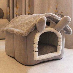 Кровати кошка Мебель Складной Глубокий Сон Петус Дом Внутренняя Зима Теплая Уютная Кровать Для Малой Собаки Котенок Тедди Удобное питомник