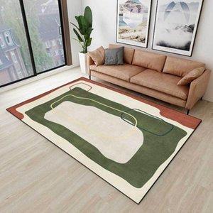 Carpets Modern Nordic Style Living Room Carpet Abstract Geometric Pattern Bedroom Rug Non-Slip Bedside Area Floor Mat Home Decor