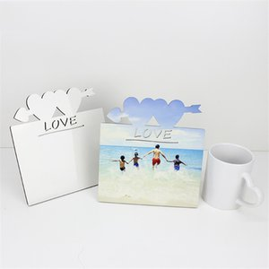 Heat Transfer Blank Photo Frame DIY MDF Wooden Photos Board That Recording Love Heart-shape Sublimation Frames ZZE5703