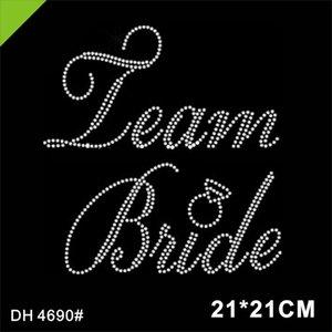 Team Bride Rhinestone Iron on Transfer Wedding Party Bridal 4690