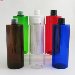 24 x 500ml Empty Amber Blue Green Red White Clear Shampoo Plastic Bottle with plastic lids 500cc Large PET Cosmetic Container