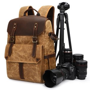 Portable Waterproof DSLR Backpack Video Digital DSLR Camera Bag Multi-functional Outdoor Camera Photo Bag Case For DSLR Lens LJ210203