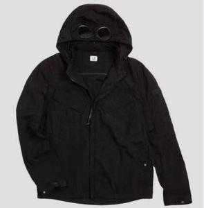 Metal nylon two glasses GOGGLE men jacket casual CP hoodies outdoor windbreak black army green orange size M-XXL