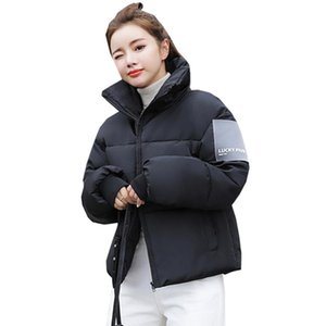 Women's Trench Coats Fashion Woman Jackets Wadded Snow Overcoat Glossy Brief Down Jacket With Thick Cotton Padded Clothes Coat 900