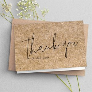 Thank You Order Cards Kraft Paper Products Thanks Card Appreciation Cardstock Purchase Inserts to Support Small Business Customer 902 B3