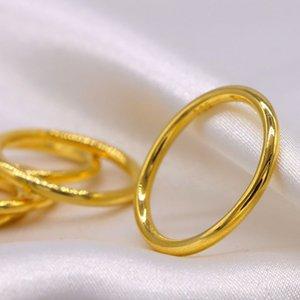 Vietnam Sandgold Ring frauen dünne glatte kleine einfache Männer 24k alte plattierte 999 lang anhaltende Schmuck Ryyv