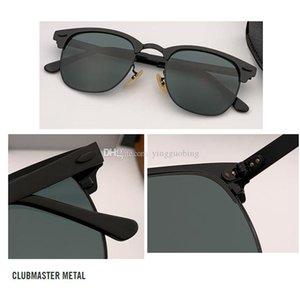 2021 Top Calidad Marca Club Nuevo Maestro Gafas de sol Hombres Diseñador Espejo Gafas Mujeres Oculos De Sol Accesorios para Eyewear 51mm UV400 Lente de vidrio Gafas