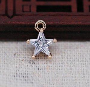 Unisex Ladies Fashion High Quality Crystal Zircon Retro Simple Star Pendant Necklace Ladies Party Birthday Rent Treasure Gift