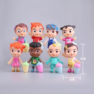 3.1inch-4.7inch melon jj Figure Toy PVC Model Dolls Kids Baby Cake decoration toys 12pcs set Christmas Gift zx32