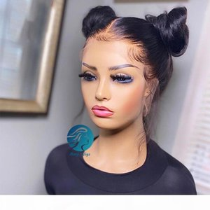 Preplucked Full hd Frontal Wig Natural Brazilian Remy 150% Transparent Afro Long Lace Front Human Hair Wigs for Black Women Straight 30 inch